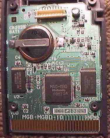 The main PCB of the Gameboy Camera with the camera unplugged.