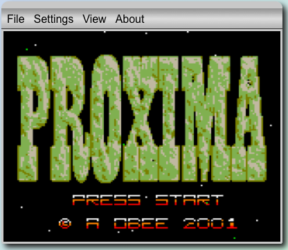 """GameBoy Online"" running Proxima"